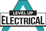 level up electrical logo small